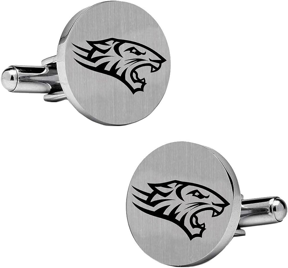 College Jewelry Towson Tigers Stainless Steel Round Cufflinks