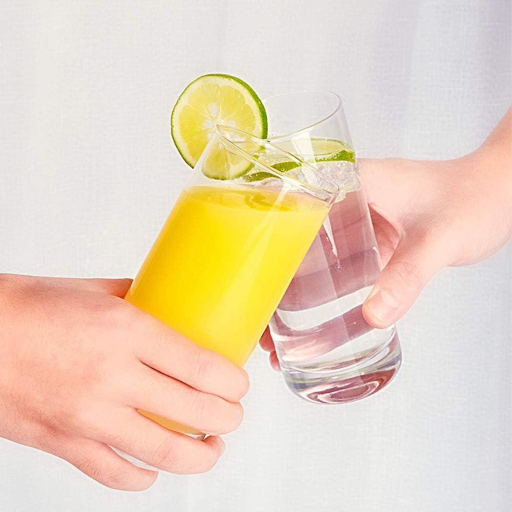 [Pack 6, 395ml/13.5oz]DESIGN•MASTER-Vasos Highball sin plomo de primera calidad, vaso alto de barra de base pesada, vasos para agua, jugo, cerveza y ...