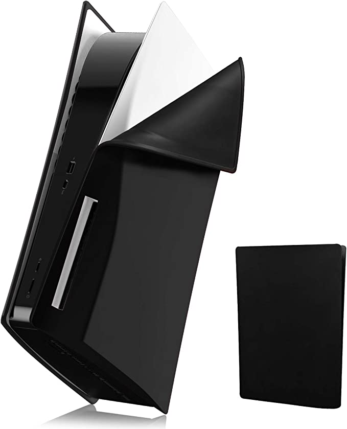 PS5 Console Silicone Skin Cover,Anti-Scratch PlayStation 5 Console Protective Case,Soft Shockproof Anti-Dust Waterproof PS5 Console Cover Protective Plate Shell for Sony PS5 Console Disc Version-Black   Amazon