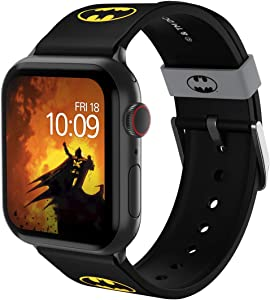 DC Comics - Batman Icon Edition – Officially Licensed Silicone Smartwatch Band Compatible with Apple Watch, Fits 38mm, 40mm, 42mm and 44mm