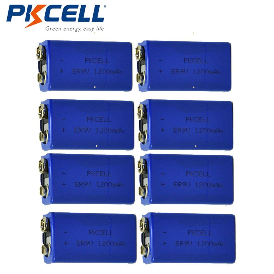 9V 1200mAH Lithium Battery for Smoke Detectors (8pc)