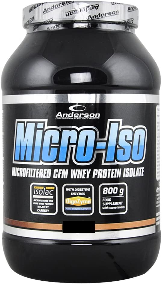 Anderson MICRO-ISO | Microfiltered CFM Whey Protein Isolate by Carbery 800 gr