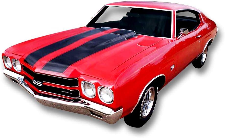 Amazon Com Phoenix Graphix 1970 1971 1972 1970 72 Chevelle Ss Vinyl Stripes Decals Kit Red Automotive