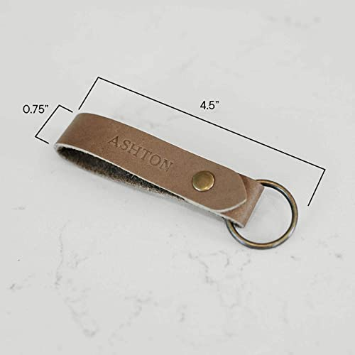 Leather initial keyring backed with hair on cow-hide A-Z available premium leather double sided handmade in Texas,USA