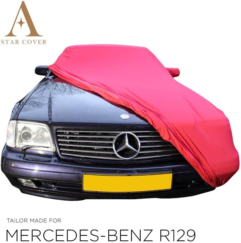 Cubierta Auto Entrega 100/% Impermeable Y Transpirable NEGROCUBIERTA DE Coche DE Exterior Star Cover Funda DE Exterior Mercedes-Benz R129 con Bolsillos para LOS RETROVISORES