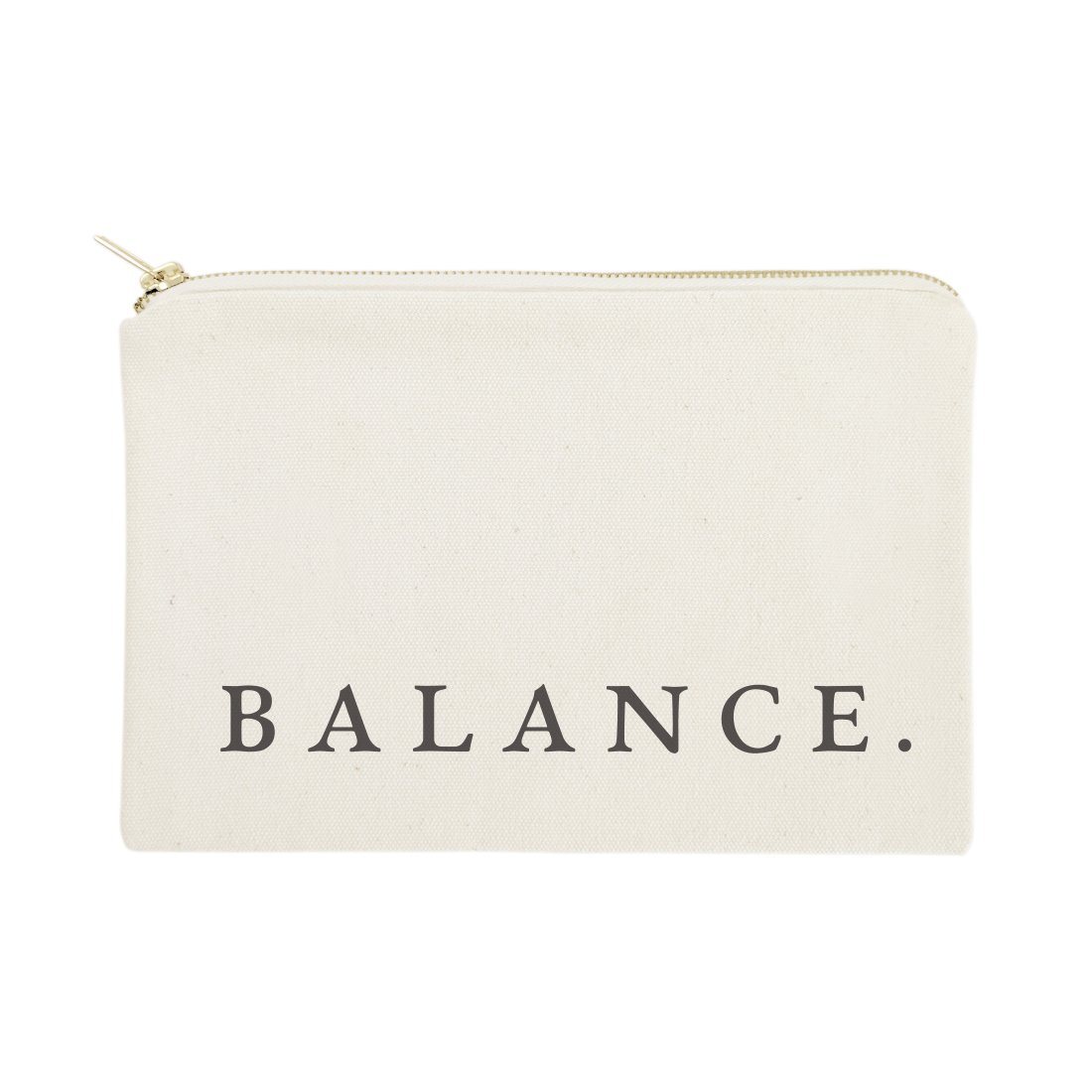 The Cotton & Canvas Co. Balance Cosmetic Bag and Travel Make Up Pouch