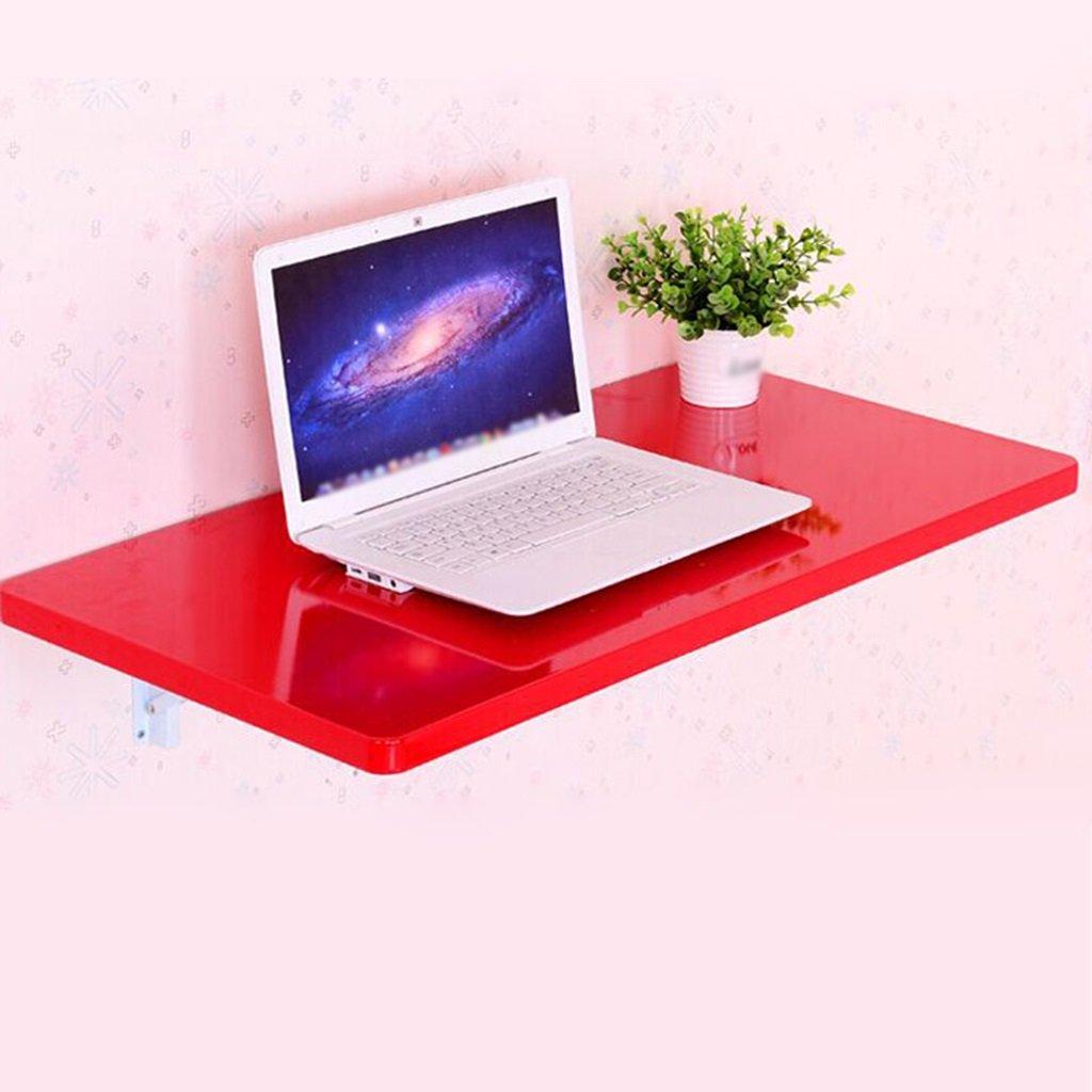 壁掛け式折り畳みダイニングテーブルコンピュータデスクパーティションストレージシェルフペイントデスクトップラップトップテーブル ( 色 : 赤 , サイズ さいず : 60cm*35cm ) B07BPRKHZ9  赤 60cm*35cm