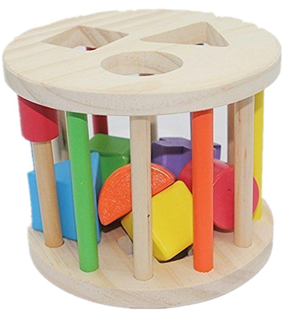 Wooden Toys For 1 Year Olds : Aladdin shape sorter wheel wooden toys for year old ebay