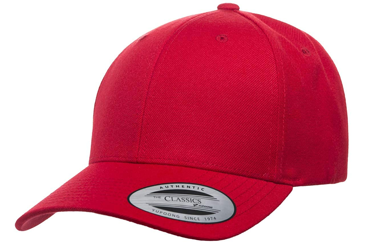 Flexfit Yupoong Premium Curved Visor Snapback Hat  2b8e1887f81