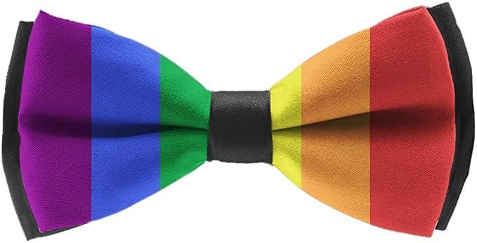 Adjustable LGBT Pride Flag Pre-tied Boys Bow Tie Accessory Gift