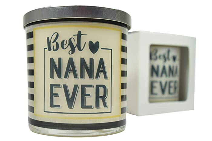 Amazoncom Best Nana Ever Candle Natural Soy Candle 12 Oz Glass