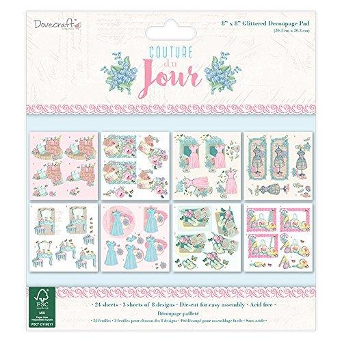Decoupage Pad (Dovecraft Couture Du Jour 8x8 FSC Decoupage Pad, Multicoloured by Dovecraft)