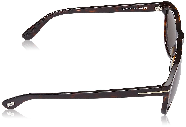 73900e4593 Tom Ford Sunglasses - Kurt   Frame  Havana Lens  Green at Amazon Women s  Clothing store