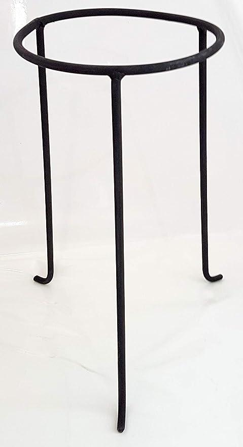 Soporte decorativo de metal para jarrones, lámparas de aceite, lámparas de viento y ánforas, negro, altura aprox. 25 cm de diámetro interior superior de 11,5 cm.: Amazon.es: Hogar