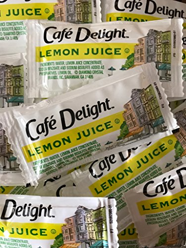 50 Pack Lemon Juice Packets, 4g each by Cafe Delight