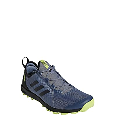 adidas outdoor Terrex Agravic Speed Trail Running Shoe Men's Raw SteelBlackSolar Slime, 9.0