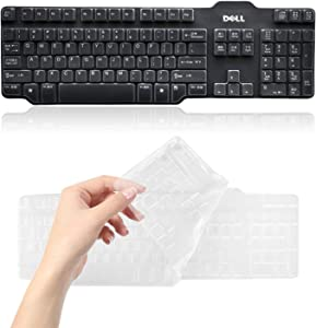 Lapogy Ultra Thin Keyboard Skin Cover for Dell SK-8115 3205 8135 L100 RH659 Accessories,Soft TPU Keyboard Cover Protective Skin,Clear