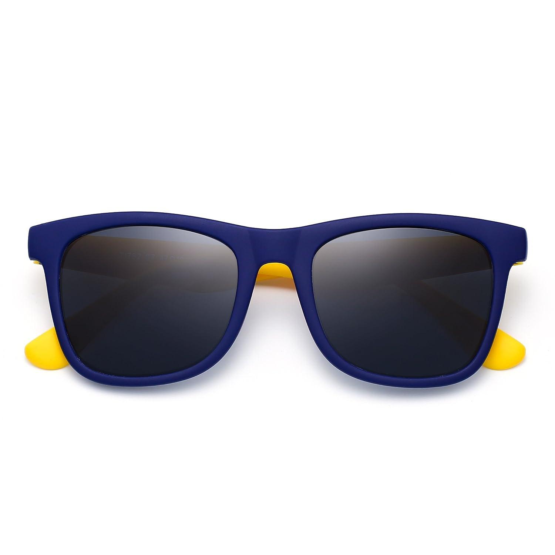 Polarizadas Niños Gafas de Sol Goma Chicas Chicos Hijos Flexible Anteojos Años 3-12(Azul Amarillo/Gris Polarizado): Amazon.es: Ropa y accesorios