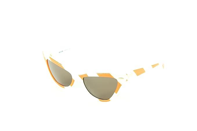 Moschino MO-302S-04 Gafas de sol, White/Orange, 53 para ...
