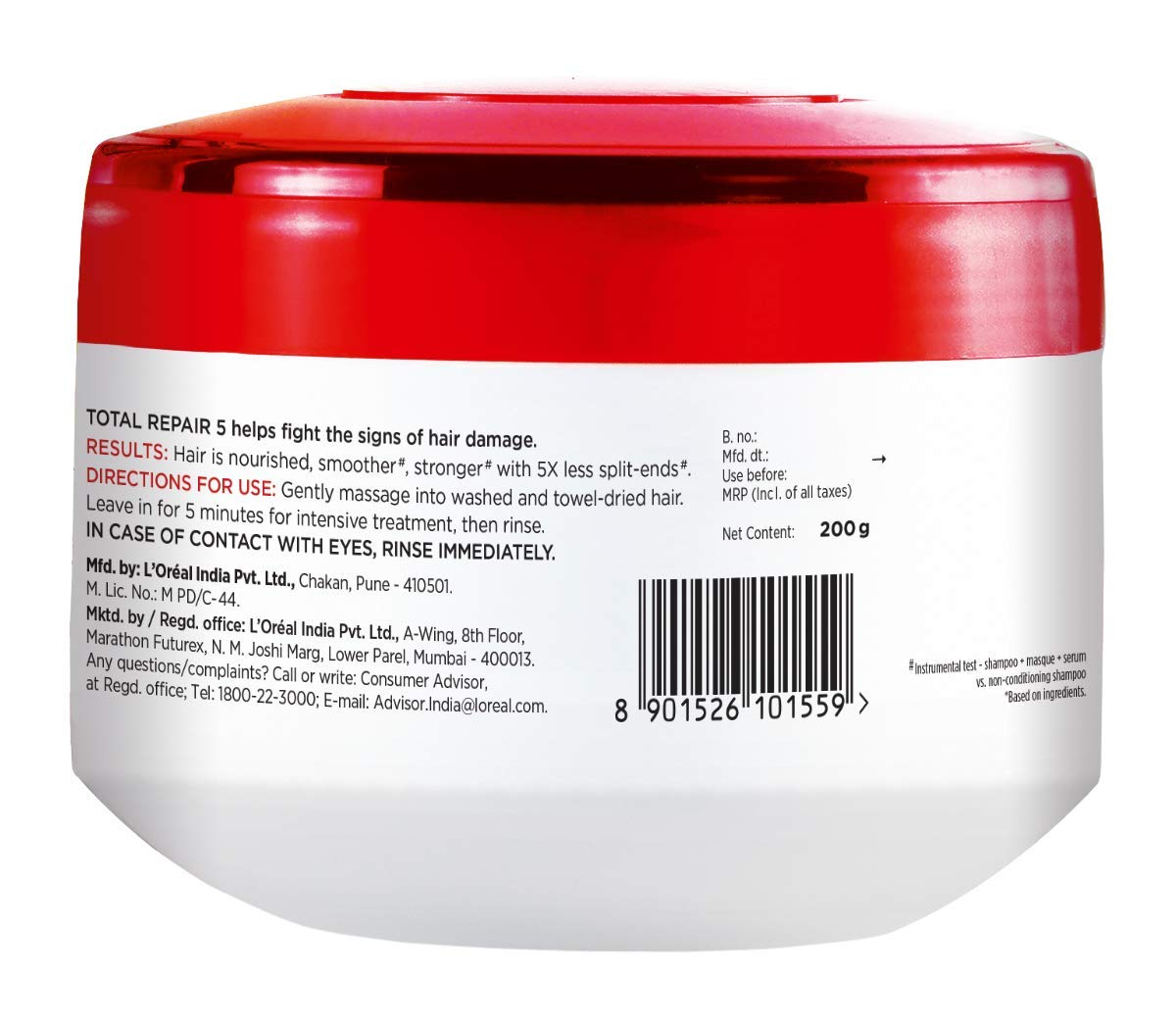 Buy L Oreal Paris Total Repair 5 Masque 200ml Online At Low Prices In India Amazon In