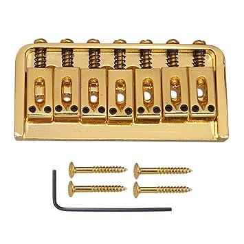 monkeyjack guitarra puente fijo tipo 7 selletas para guitarra eléctrica de repuesto – Golden