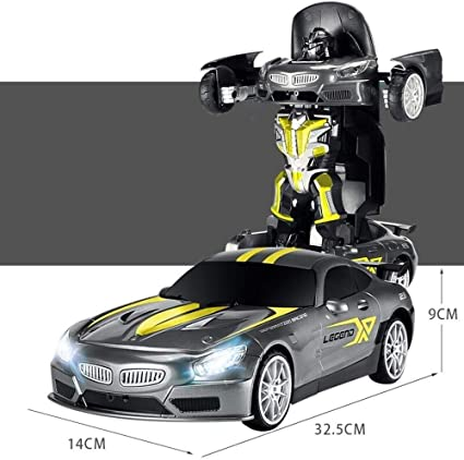 Redfiy Deformable del coche de RC, robot de juguete con un botón de transformación de Deportes del coche de carreras Resistencia del juguete del choque del coche eléctrico Modelo deportes electrónicos: Amazon.es: