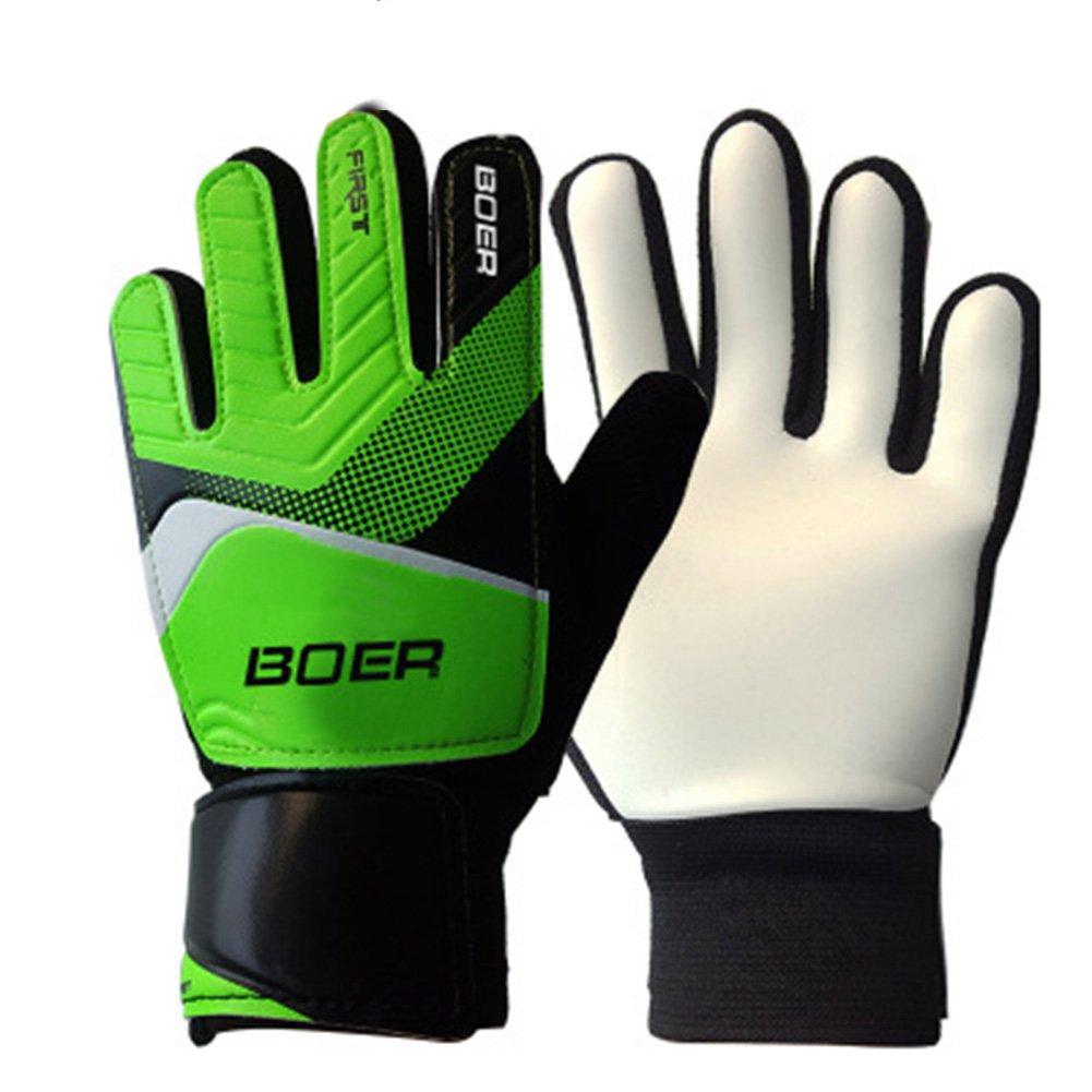 anti-skid finger-save子ゴールキーパーグローブfor Goalie Beginnersアウトドアスポーツ手袋 B07BBP5BHV 5|グリーン グリーン 5