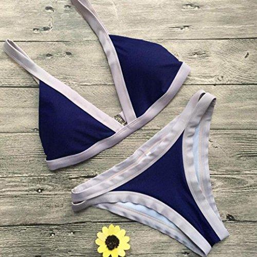SHOBDW Bikiní de mujeres acolchada traje de baño ropa de playa