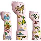 Mocossmy Dinosaur Temporary Tattoos for Kids - Glitter Dinosaur Temporary Tattoos,Waterproof Fake Tattoo Stickers,Birthday Pa