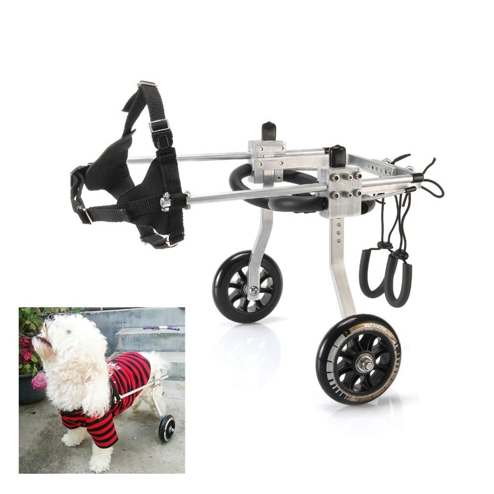 Medium BEST WALKING Adjustable Dog Wheelchair Paralyzed Hind Leg Rehabilitation Dog Cart Wheels Pet Mobility Aids For Disabled Dog General Paralysis Dog Scooter (1-75kg)