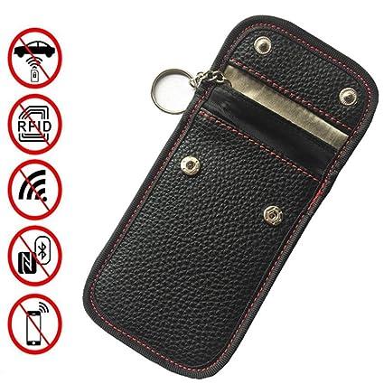 Bolsa de protección de llave de coche, hebilla doble oscura ...