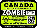 "ProSticker 1207 (TWO pack) 3""x 4"" Zombie Series ""Canada"" Hunting License Permit Decal Sticker"