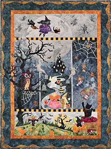 McKenna Ryan~Once in a Boo Moon~Halloween~Pre-Cut Laser Applique Kit w/Fabric~46 1/2 x 61 1/2