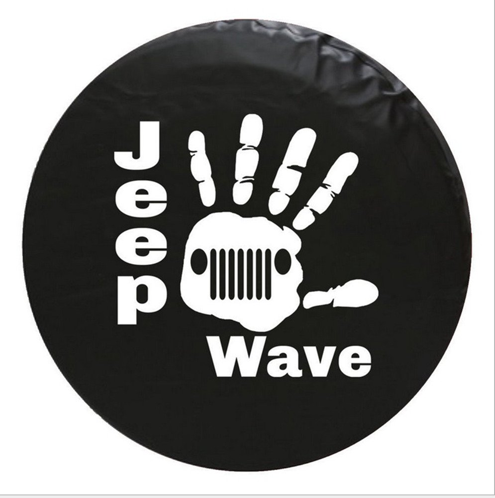 type4 Automelody 31Pvc Leather Spare Tyre Cover Tire Cover Black For Jeep Grand Cherokee Gr.Cherokee Wrangler