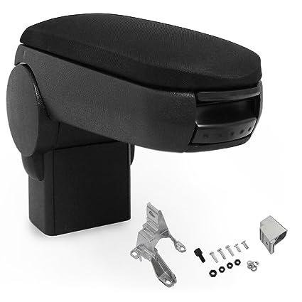 tapizado negro apoyabrazos con compartimento tela Reposabrazos central pro.tec