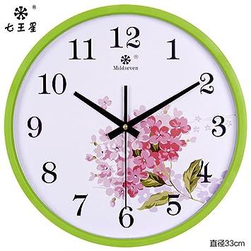 AIZIJI Reloj de pared Reloj de oficina dibujo elegante decoración reloj de pared relojes de cuarzo 33CM: Amazon.es: Hogar