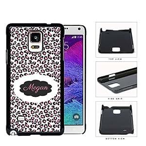 Pink/Black/White Leopard Cheetah Animal Print CUSTOM MONOGRAM NAME Samsung Galaxy NOTE 4 IV Hard Snap on Plastic Cell Phone Case Cover by icecream design