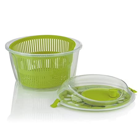 Compra kela 11906 Lechuga Mailin, PP de plástico, 17, 50 cm, diámetro 24, 5 cm, 4, 4 l, Verde en Amazon.es