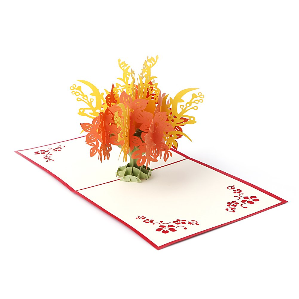 Amazon Arich Creative 3d Pop Up Holiday Greeting Card Flower
