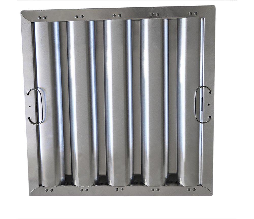 16'' Tall x 16'' Wide x 2'' Kleen Gard Aluminum Restaurant Hood Baffle Filter