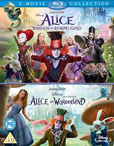 Alice In Wonderland/Alice Through The Looking Glass [Blu-ray] (Johnny Depp Steampunk)