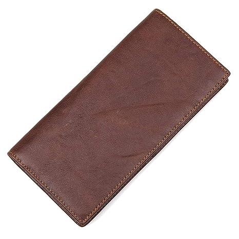 DRF Larga Billetera de Piel Plegable para Hombre #BG-138