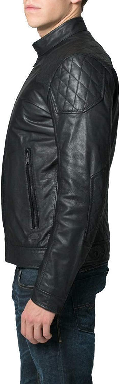 brandMe Mens Genuine Leather Pure Lambskin Biker Jacket MM435