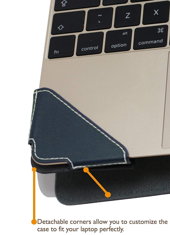 Etui Bleu en Cuir de Luxe pour Ordinateur Portable pour ASUS Zenbook 13 UX 333 Profile Series Broonel London
