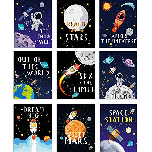 Kids Nursery Bedroom Space Posters
