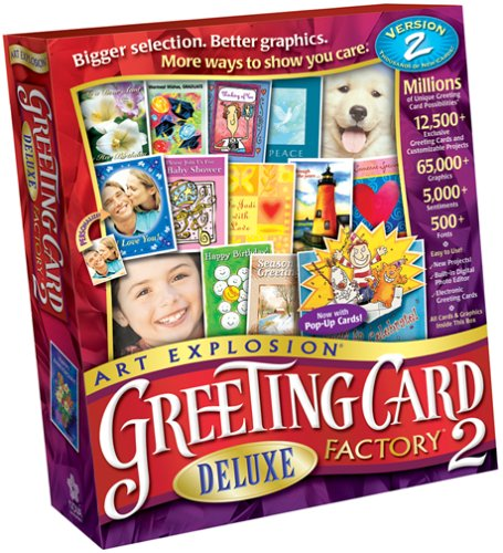 Art Explosion Greeting Card Factory Deluxe 2 by Nova Development US