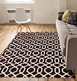 Zipper Helix Brown Geometric Lattice Modern Contemporary Casual Area Rug 5×7 (5'3″ x 7'3″) Easy to Clean Stain Fade Resistant Shed Free Classic Traditional Moroccan Trellis Living Dining Room Rug