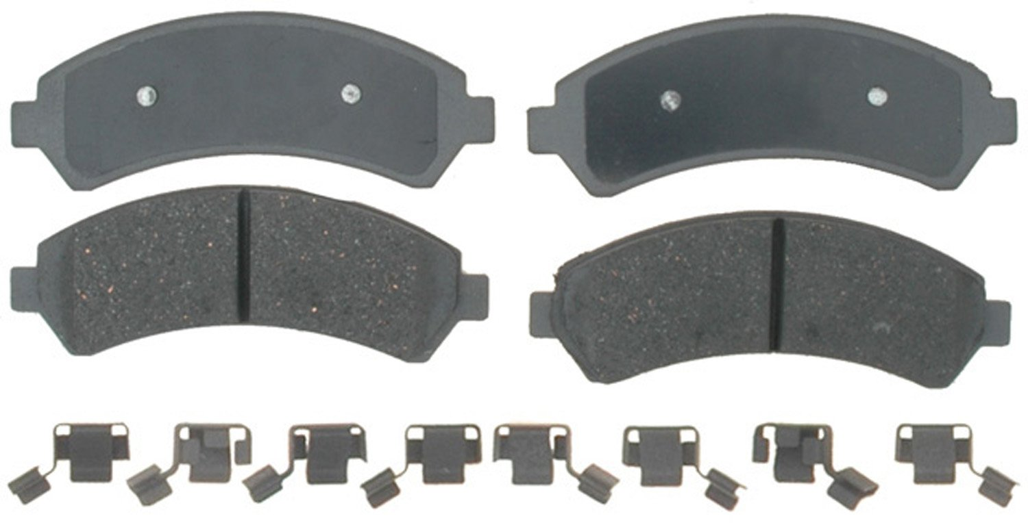 ACDelco 14D726CH Advantage Ceramic Front Disc Brake Pad Set with Hardware