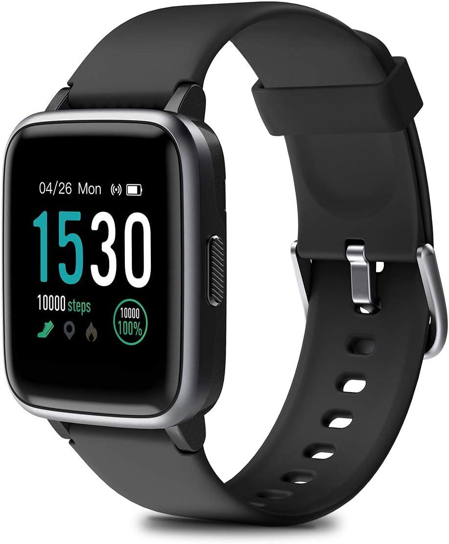 HOMVILLA Pulsera Actividad, Ejercicio Fitness, Reloj Inteligente Impermeable IP68 con Pulsómetro Monitor de sueño Pulsera Deportiva Cronómetro para Mujer Hombre Niños Compatible con iOS y Android