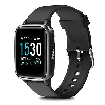 HOMVILLA Pulsera Actividad,Reloj Inteligente Impermeable IP68 con Pulsómetro Monitor de sueño Pulsera Deportiva Cronómetro Contador de calorias para ...